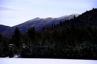 Typical landscape in Lake Placid