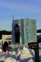 Making of ice sculpture