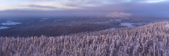 1308 - A - Distant winter view to Ruka - HD